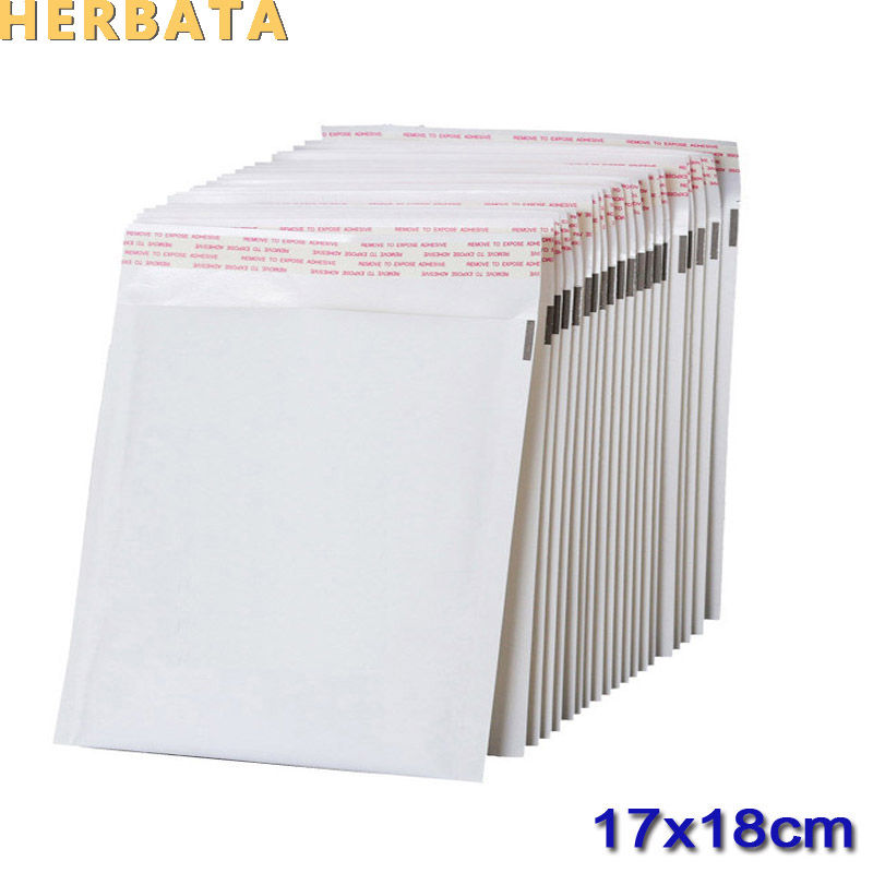 HERBATA (170*180mm) 20pcs/lots White Pearl Film Bubble Envelope Courier Bags Waterproof Packaging Mailing Bags CL-2022B