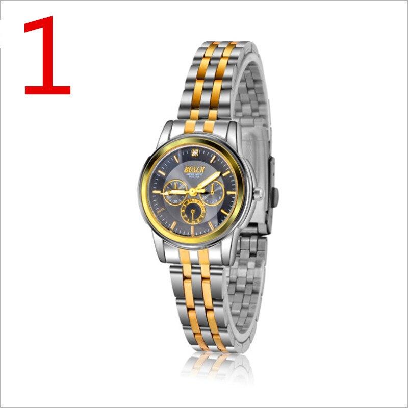 New men's leisure business quartz watch.women Watches Top Brand Luxury Sport Quartz Watch women Business Stainless Steel Silicon