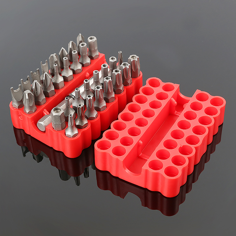33pcs Solid Security Tampered Electric Screwdriver Bit Set 60mm Magnetic Hex Wrench Three-Wing Screwdriver Magnetic Seat Preci