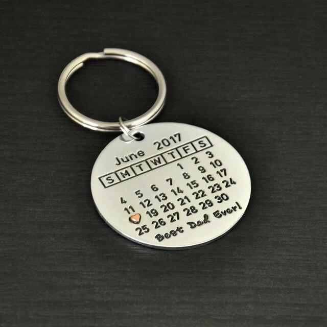 custom father s day keychain calendar keychain personalized keychain