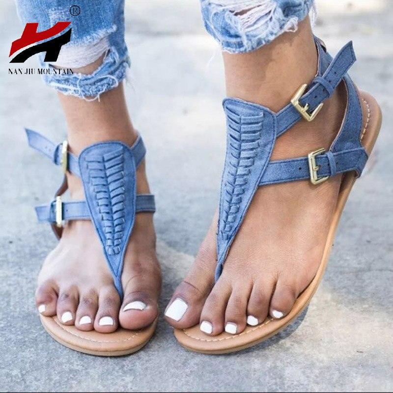 Fond D'été Femmes pink Rome Angle Boucle De black Sandales Taille Grande Femme Plat Beige blue Chaussures Nouvelles 35 2018 43 EYwqHp