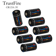 16pcs/lot TrustFire CR123A 3V 1400mAh Disposable Lithium Battery Batteries for Camera/Video Game Player (Non-rechargeable) CR 123A soshine cr123a 3v disposable lithium batteries 2 pcs