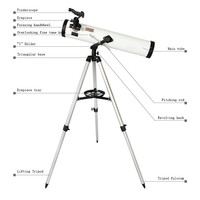 F76700 Binocular 350 Times Zooming Reflective Astronomical Telescope For Space Celestial Heavenly Body Observation