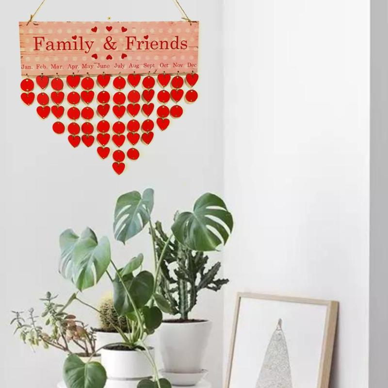 2Color Wooden Anniversary Calendar Board DIY Family Friends Birthday Calendar Sign Special Dates Planner Board Hanging Home Deco diy fashion wooden birthday calendar family friends sign special dates planner board hanging decor gift decorate your home
