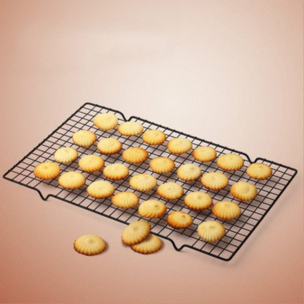 AIBAN 25*40cm Nonstick Carbon Steel Cooling Rack Cooling Grid Baking Tray For Biscuit/Cookie/Pie/Bread/Cake Icing Baking Rack