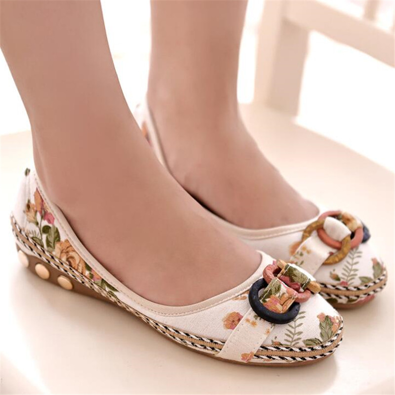 New Flowers Bowknot Handmade Shoes Womens Floral Soft Flat Bottom Shoes Casual Sandals Folk Style Women ShoesNew Flowers Bowknot Handmade Shoes Womens Floral Soft Flat Bottom Shoes Casual Sandals Folk Style Women Shoes