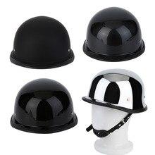 Мотоциклетный шлем уникальный 4 типов M/L/XL Пособия по немецкому языку Стиль половина Для лица Пособия по немецкому языку шлем гальваническим Винтаж мотоциклетный шлем