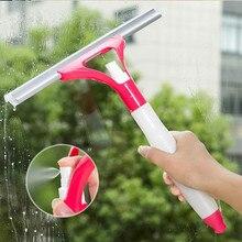 Силиконовая щетка для очистки окон многофункциональная интегрированная распылитель воды практичный бытовой чистящий оконный инструмент