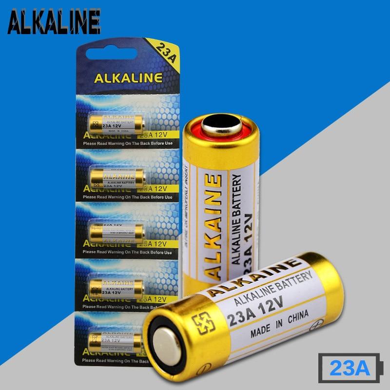Wholesale 23A 12V Alkaline Battery  23AE MS21 A23 V23GA VR22 MN21 batteries 5pcs/card 100pcs/lot