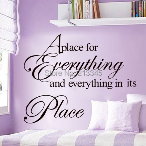 [Saturday Mall Monopoly] - fashion simple home decor wall stickers english letters decals quotes art mural remvoable diy 7083