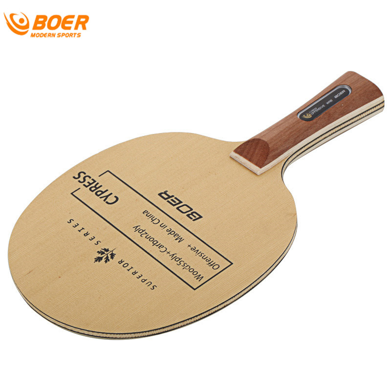 BOER 2017 Chinese Cypress Carbon Fiber Table Tennis Blade Lightweight Ping  Pong Racket Blade Table Tennis