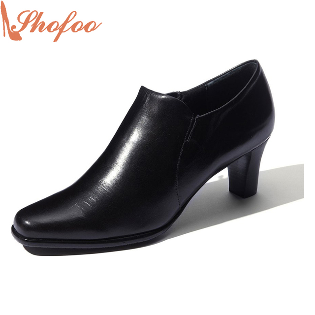 2bb075f190906 Shofoo Botines Moda Mujer Negro Tacones Med Zapatos Cómodos Para Caminar  Para Mujer