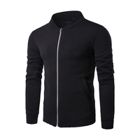 men'sNew stand up oblique zipper trend large size Coat men's clothing Sweatshirts baseball uniform