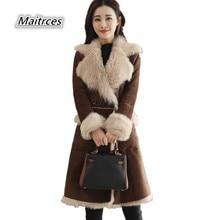 2018 Spring Autumn Winter Women's Jacket Woolen Coats Loose Medium length Houndstooth Wool Outerwear Coats NZ005