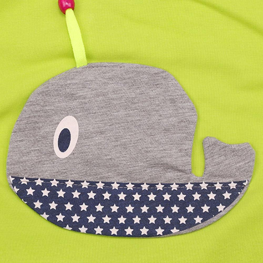 BOBORA 2pcs Baby Boys Girls Cartoon Whale Pattern Long Sleeve Tops+Long Pants Toddler Clothing Outfits