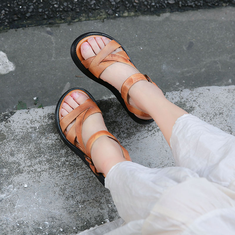 VALLU 2018 Summer Shoes Women Platform Sandals Cross Strap Buckle Ankle Strap Genuine Leather Ladies Wedge Sandals мыло своими руками снежинка в кор 44шт