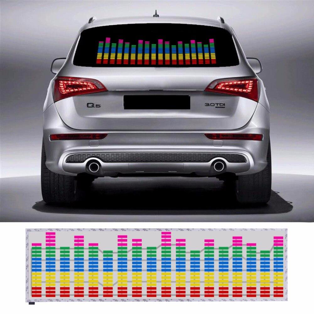 Car parking stickers design india - 90 25 Cm Colourful Music Rhythm Pattern Car Sticker El Sheet Music Equalizer Car Windshield