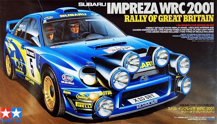 1/24 Subaru WRC2001 Rally Car Model 24250