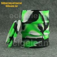 Bài 1 cái * 500 ml Thùng Dầu BHO silicone jar dab sáp Tập Trung container không dính goo miễn phí glass bongs gel sáp dầu lớn container