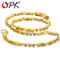 OPK JEWELLERY Top Quality 18K Gold Plated Necklace Chain Cool Design Attractive Men S Jewelry 611