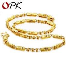 OPK JOYERÍA de alta calidad chapado en Oro Collar de cadena de diseño fresco de la joyería de los hombres atractivos 611