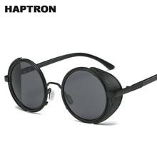 7beb7fbf86 HAPTRON Vintage Gothic Steampunk Sunglasses for Men Women Mirror Round Sun  glasses Brand Designer Retro hippie oculos de sol