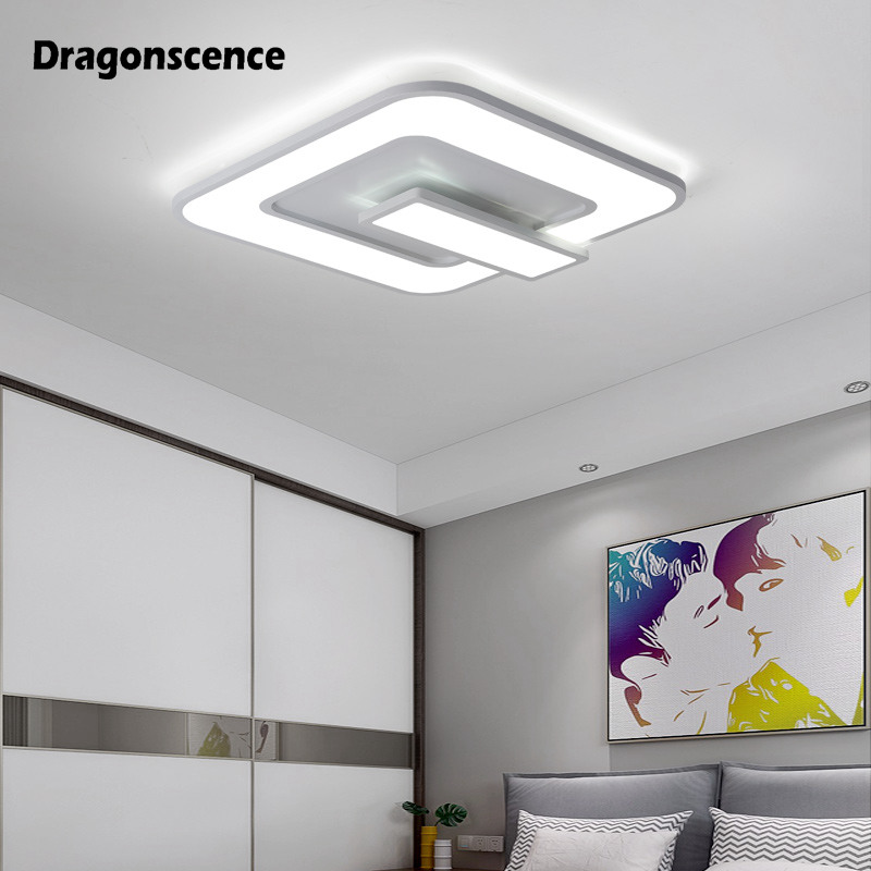 Dragonscence Modern LED chandelier lighting Squar Switch button ceiling chandelier lamp for living dining bedroom Indoor lusterDragonscence Modern LED chandelier lighting Squar Switch button ceiling chandelier lamp for living dining bedroom Indoor luster