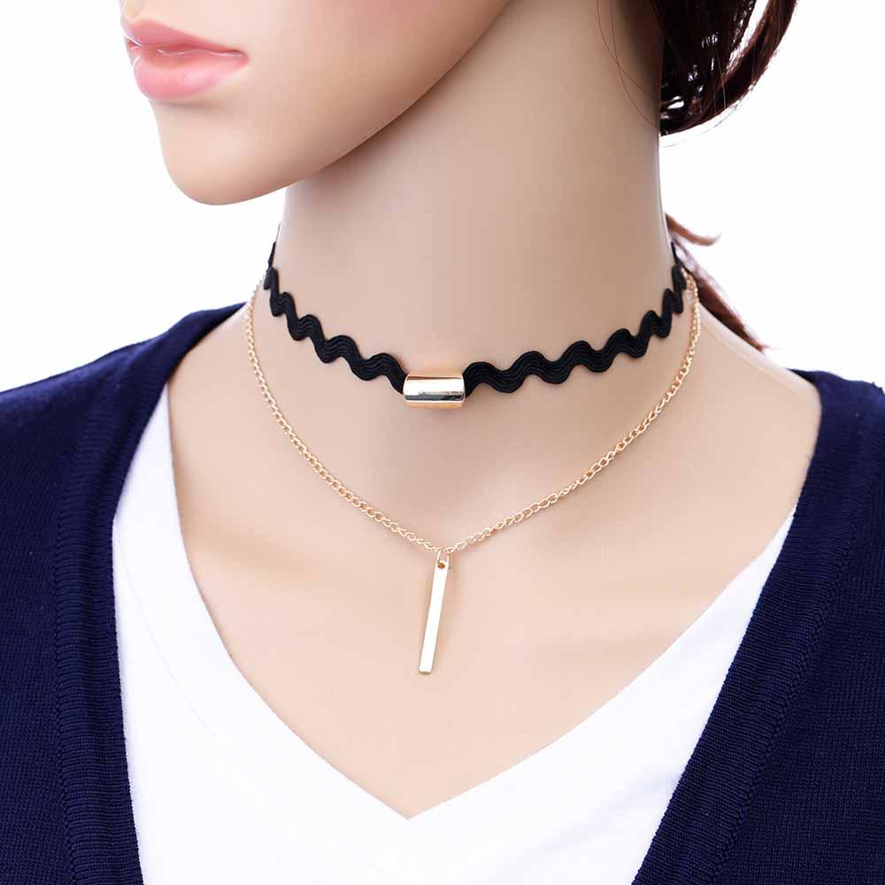 TOMTOSH Fashion Black Lace Neck Necklace Ladies Fashion