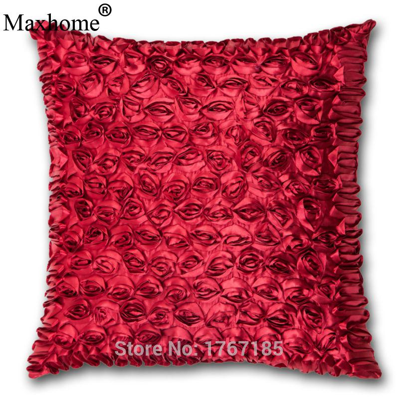 New Stereoscopic Small Rose Sided Cushion Decorative Pillows Handmade  Comfort Home Decor Sofa Throw Pillow