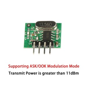 Image 3 - QIACHIP 433 Mhz Supereterodina ASK Trasmettitore RF Modulo DC 1CH Kit FAI DA TE 433.92 Mhz A Distanza Senza Fili di Controllo Per MCU Arduino uno