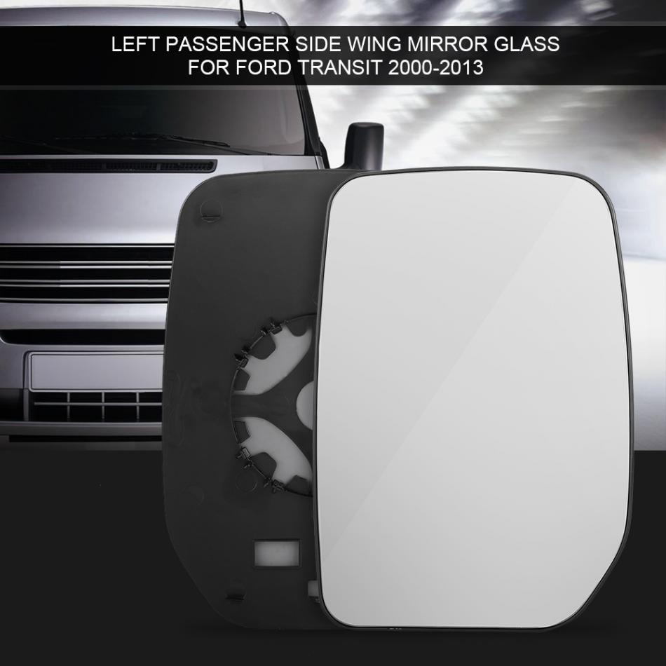 For Ford Mustang 2005-2009 Left side Flat wing door mirror glass with plate