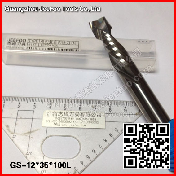 12*35*100L up&down(left&right spiral bits) two spiral composite flute bits,cnc cutting tools A series 8 35 100l tungsten carbide engraving tools up and down cut two spiral flute bits a