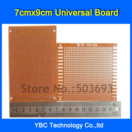 Free Shipping 100pcs/Lot 7x9 cm PROTOTYPE PCB Bakelite Plate One Layer 7cmx9cm Panel Universal Board for DIY|pcb test board|pcb motherboard|board shoe - title=