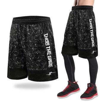 bc56ad7ef UU. pantalones cortos de baloncesto entrenamiento hombres activa pantalones  cortos sueltos bolsillos de verano hombre corriendo Fitness corto