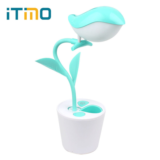 iTimo LED Desk Lamp USB Rechageable Novelty LED Table Lamp Smart Touch Switch Art Decoration Reading Light 3 Mode Dimming