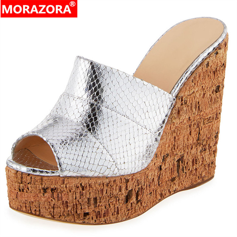 MORAZORA 2019 new arrival wedges shoes women sandals peep toe summer shoes female party wedding shoes women platform footwear