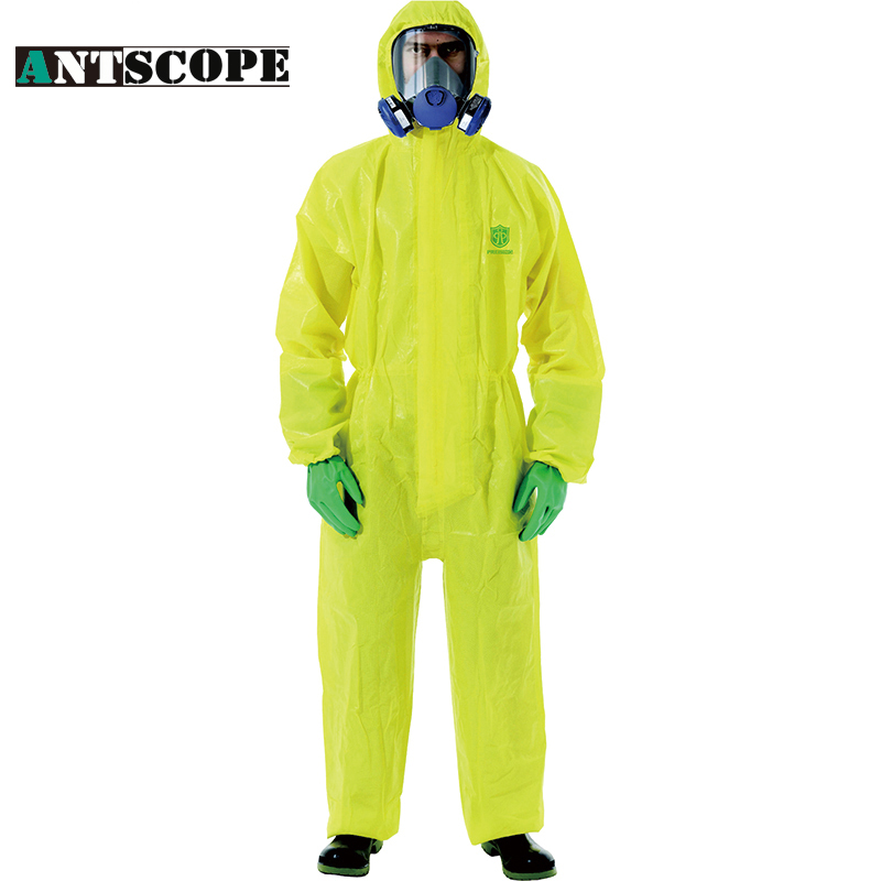 Antscope Yellow Overalls Men's Suits Tattooes Sterile Safe Work Uniforms Waterproof Anti-static Chemical Safety Suits anti static elastic finger cots stalls yellow size l 50 pcs