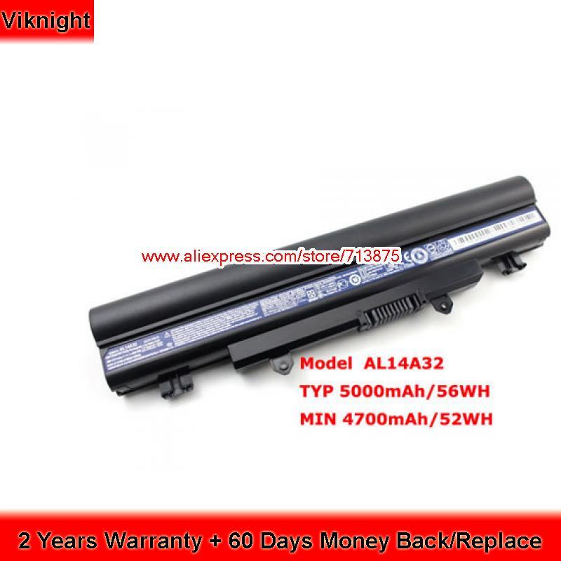 Original AL14A32 Battery For Acer Aspire E14 Touch V3-572 E15 E5-531 E5-551 E1-571 E5-421 E5-471 E5-571 E5-572 V3-472 Z5WAH цена 2017