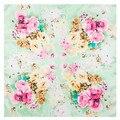 60*60 см 2016 Новый женский шарф Профессиональный квадратных Китайский стиль Цветок Шейный Платок небольшой платки Саржевого Шелковый шарф Шелк хиджабы