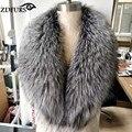 2016 настоящий природный лисий мех ошейники девушку роскошный шаль супер большой меховой шарф женской лисий мех украл обертывание 100 см