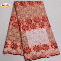 Latest Lace 2017 African Cord Lace High Quality Multi Color Cord Lace African Guipure Lace Fabric