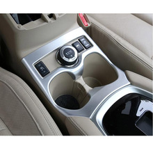 For Nissan X-Trail Rogue Sport T32 2WD 4WD J11 2014 15 2016 ABS Chrome Interior Water Cup Holder Trim Cover Molding Accessories