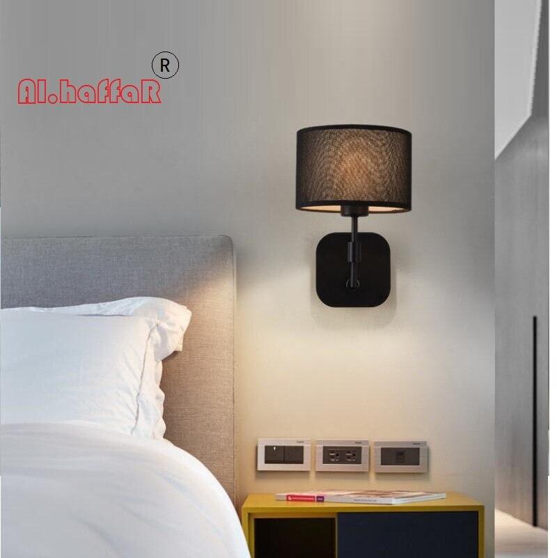Moderno LED nero lampade da parete E27 Con Paralume semplice creativo Apparecchi di Illuminazione per Living roomModerno LED nero lampade da parete E27 Con Paralume semplice creativo Apparecchi di Illuminazione per Living room