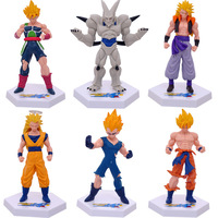 8pcs Lot Anime Dragon Ball Z Figures Fifty Fourth Generation DIY Toys Collectible Dragon Ball Action
