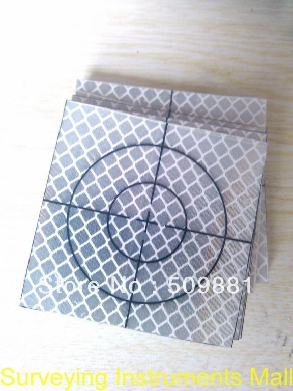 100 pezzi Foglio riflettente 30 x 30 mm (30x30) Stazione totale - Strumenti di misura - Fotografia 2