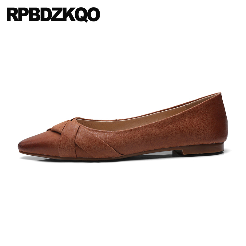 genuine leather china 2018 ladies beautiful flats shoes designer slip on chinese women comfortable pointed toe latest shallow все цены