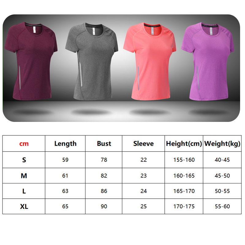 running - T Shirt Running Woman Quick Dry Fitness Slim Short Sleeves Breathable Gym Nylon Sportswear Yoga Shirts Compression Female 2019