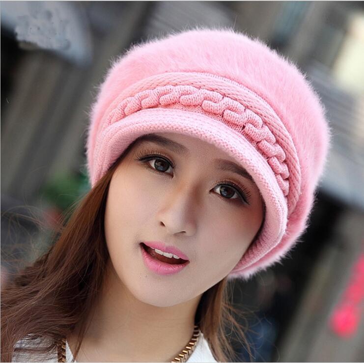 13cd306ec 2017 Winter Beanies Knit Women's Hat Winter Hats For Women Ladies Beanie  Girls Skullies Caps Bonnet Femme Snapback Wool Warm Hat