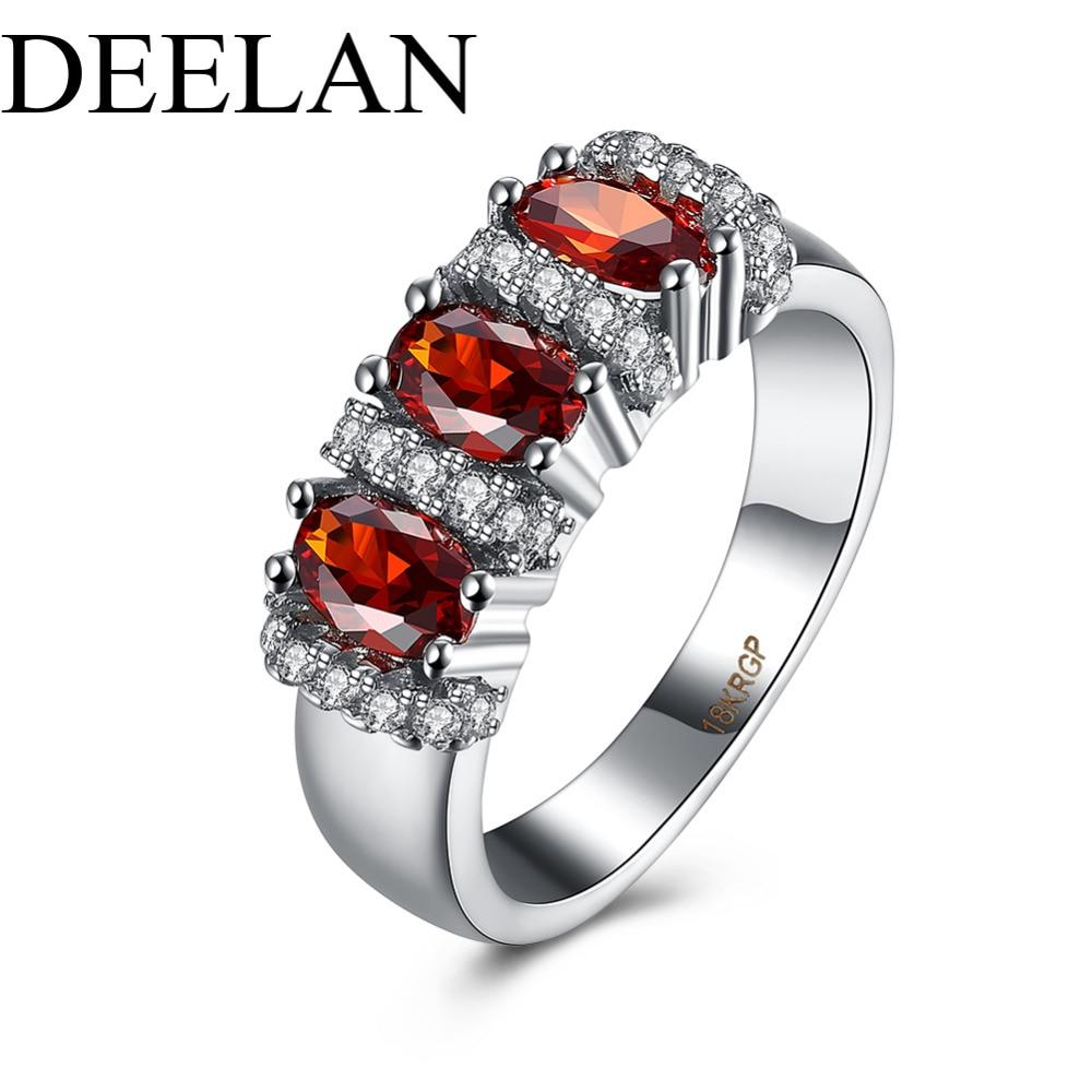 A Stone+Type Garnet 7CA Personalized garnet wedding rings Stackable Garnet Ring 1 20 ct tw Diamonds Sterling Silver