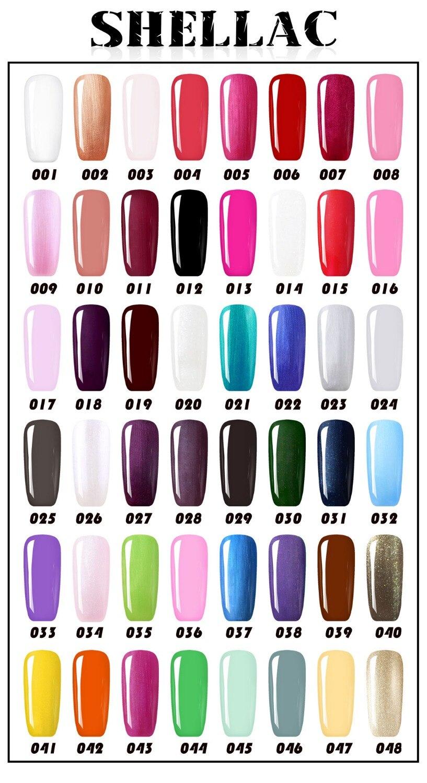Nail tools 24W LED Lamp & 6 Color UV Gel polish Nail Art Tool Kit ...